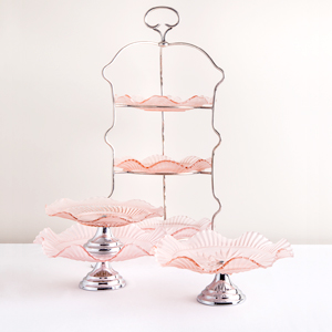 Pink Depression Glass Selection