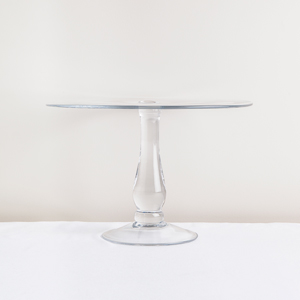 French Country Glass Pedestal Stand