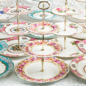 Tiered China Plates & Our Hire Products | The China Cabinet